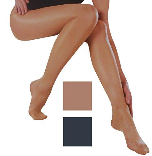 Esda by Ergora Stützstrumpfhose Lycra 120 den Vital Fit sanfter Massage Effekt Farbe Graphit Gr. 40/42 Komfort plus