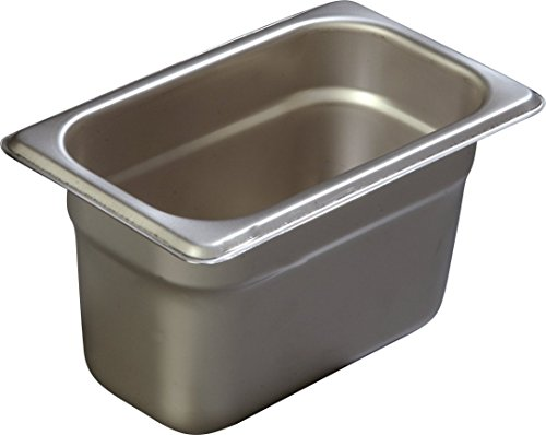 Carlisle 607194 DuraPan 18-8 Stainless Steel Light-Gauge Ninth-Size Anti-Jam Food Pan, 1.0 qt. Capacity, 6-7/8 x 4-1/4'' (Case of 6) by Carlisle