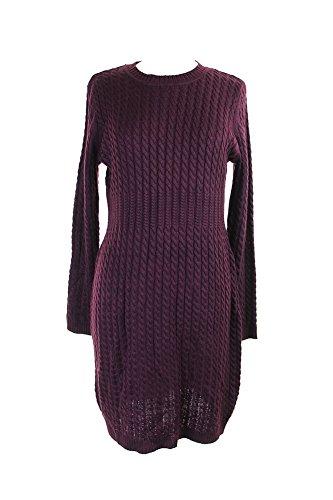 Bordo Sweaterdress A Calvin Delle Trecce Viola Donne Klein Costine wzqzUxpB