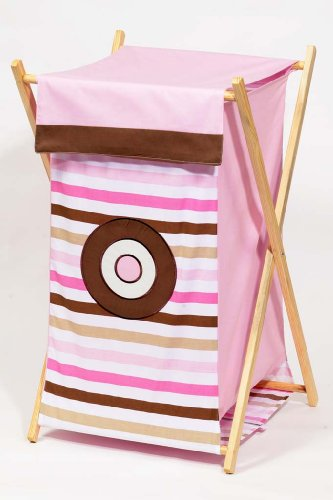 Bacati Mod Dots and Stripes Pink and Chocolate Hamper