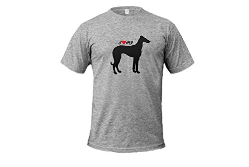 Dogs - I Love My Greyhound - Unisex Adult Tshirt (New German Wirehaired Pointer)