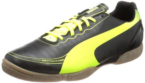 Puma evoSPEED 5.2 IT - Zapatos de fútbol de material sintético hombre Schwarz (black-fluo yellow 01)