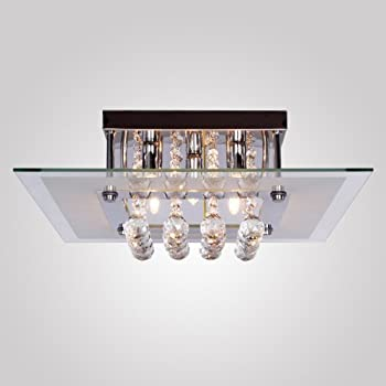 flush mount ceiling fans with lights home depot this item crystal drop square design modern light fixture drum semi lig