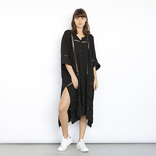 Breeze Kaftan Dress, Black. by Naftul