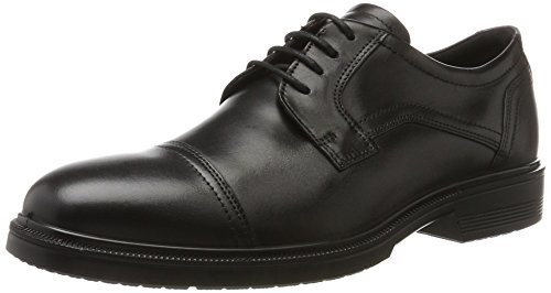 ECCO Men's Lisbon Cap Toe Tie Oxford, Black, 46 EU/12-12.5 M (Ecco Cap Toe Cap)