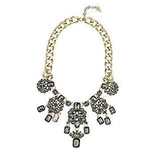 Just Showoff Women's Alloy Crystal Flowers Necklace