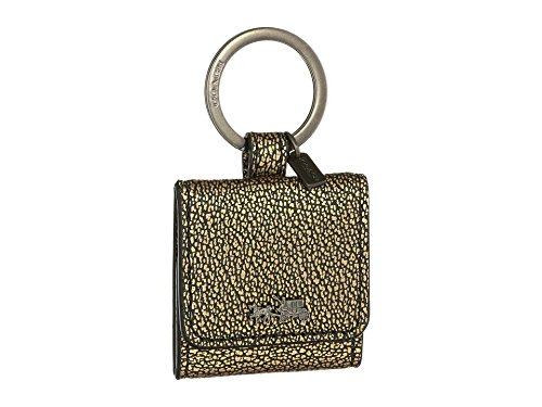 COACH coach Keychain Keyring metallic leather picture frame keyfob Keychain ()