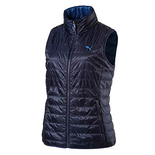 (Puma Golf Women's 2019 Pwrwarm Reversible Vest, Peacoat, x Small)