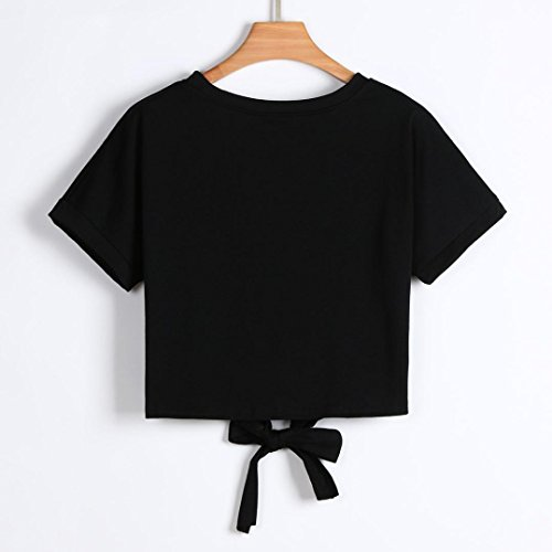 Sumen Teen Girls Embroidered Multicolor Appliques Short Sleeve Casual Strap Shirt - http://coolthings.us
