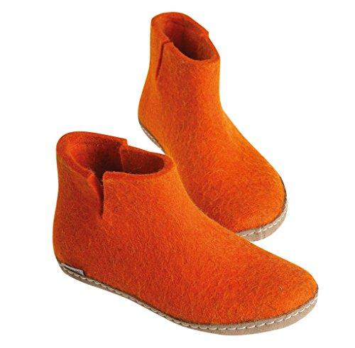 Glerups Woman High Slippers Orange Orange B7F48C4G