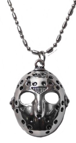 [Friday the 13th Jason's Mask Pendant Stainless Steel Necklace] (Jason Vorhees Masks)