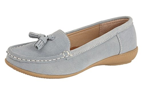 Blue Casual Blue Shoes Comfy Flat Sky Ladies Womens Boulevard U84H77