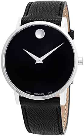 055308fb0 Movado Museum Classic Black Dial Black Leather Men's Watch 0607194