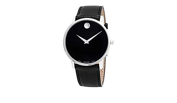 618752f1f Amazon.com: Movado Museum Classic Black Dial Black Leather Men's Watch  0607194: Watches