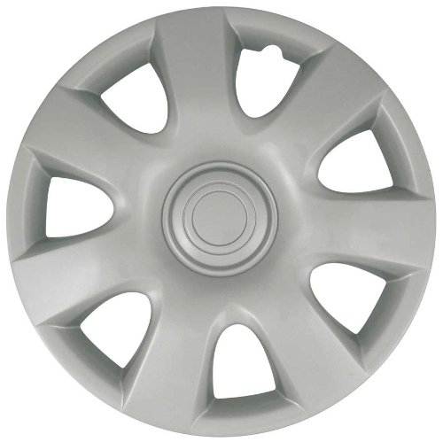(CCI IWCB944-15S 15 Inch Clip On Silver Finish Hubcaps - Pack of 4)