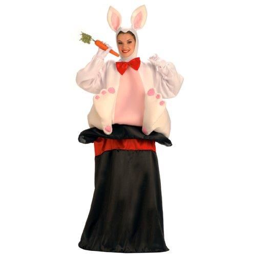 Forum Novelties Men's Magic Hat Rabbit Costume, White/Black, Standard (Bunny Rabbit Mascot Costumes)