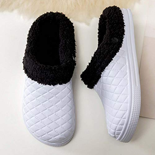 Shoes Women's Winter White House Lined Men's PHILDA Footwear Mules Fur Waterproof Clogs Slippers qwWTttycZa
