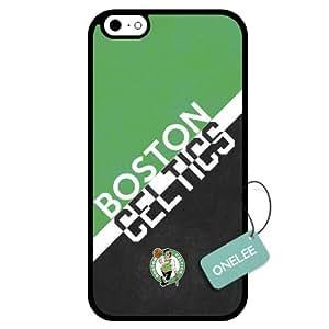 Onelee(TM) - Customized NBA Boston Celtics Team Logo Design TPU Apple iPhone 6 Case Cover - Black 01