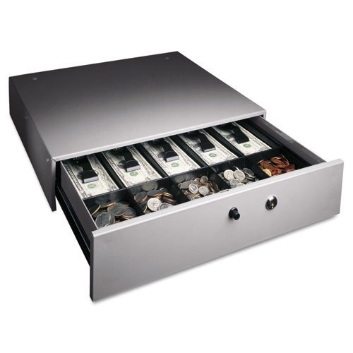 MMF 225-1060-01 Manual Button Cash Drawer with Bell, Locking Tray Cover, - Drawer Cash Mmf Manual