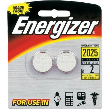 Cr2025 Coin Cell Battery - Energizer 2025BP-2 Lithium Button Cell Battery (2 Count)