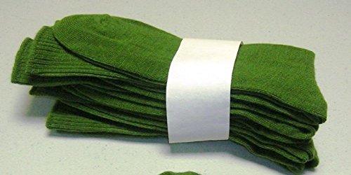 November Light (Endurant Acrylic Crew Socks Mens Lightweight Sizes 10-13 Green. (6) - November Sale)