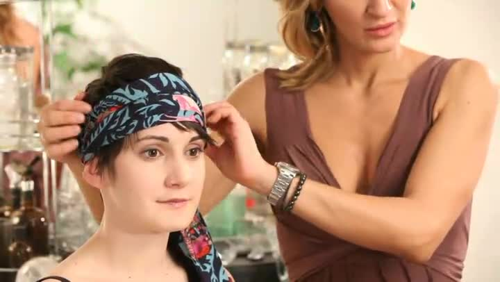 How To Wear Head Wraps With Short Hair