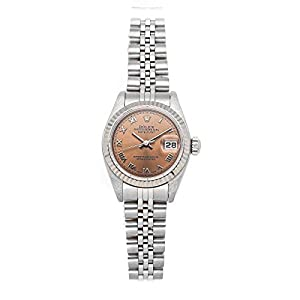 Best Epic Trends 41JLxp6wjSL._SS300_ Rolex Datejust Mechanical (Automatic) Pink Dial Womens Watch 79174 (Certified Pre-Owned)