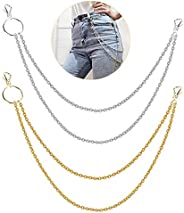 Shuxy Alloy Pants Chain Wallet Chain Hip Hop Punk Trousers Chain Gothic Motorcycle Style Jeans Chain with 2 Lo