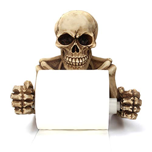 Sulida Decorative Toilet Paper Holder in Scary Halloween Decorations Bathroom Accessories -