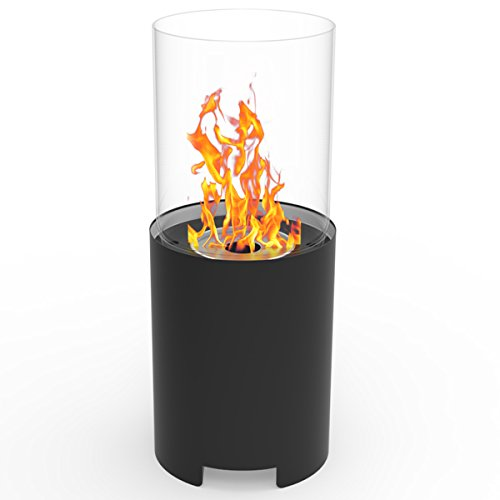 Regal Flame Capelli Fire Pit Ventless Tabletop Portable Bio Ethanol Fireplace in Black