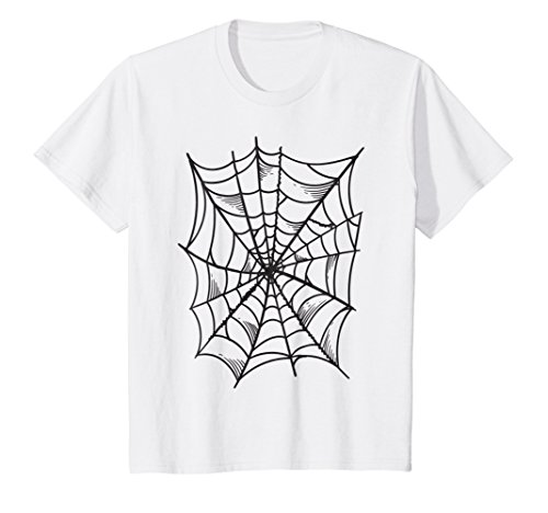 Kids Spider and Spider Web Costume T-Shirt | Halloween Gift Shirt 12 White