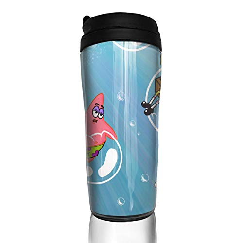 PSnsnX Spongebob Bubbles Modern Insulated Traveler Coffee Mug Tumbler Coffee Cup 12 Ounce