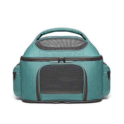 QKEMM Haustier Transporttasche für Hunde & Katzen Tragbare ausfahrbare Faltbare Diagonale Transportbox Reisetasche für…