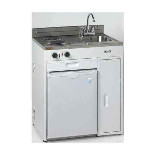 Avanti CK3016 30'' Complete Compact Kitchen With 2.2 Cu. Ft. All Refrigerator in White