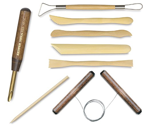 Clay Modeling & Ceramic Tools + Wire Clay Cutter / Wooden Detail Tool / Shaping / sculpting / Hole Cutter - 1/4