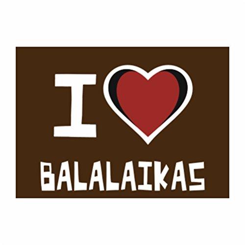 Teeburon I love Balalaika Packung mit 4 Aufkleber