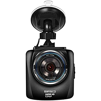 Ultra HD 2304x1296 SANSCO 2K 1296P Car Dash Cam, 50% Higher Resolution Than 1080p, Auto Emergency Recording In-Car Dashboard Camera with Excellent Night Vision, Loop Recording, Various Alerts