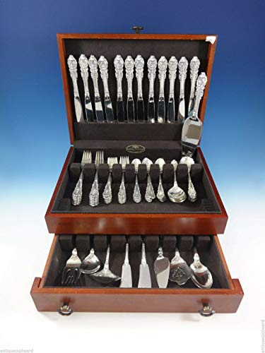 (Sir Christopher by Wallace Sterling Silver Flatware Set For 12 Service 81 Pieces)