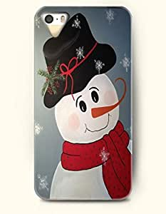 OOFIT iPhone 5 5s Case - Cute Snowman With Red Scarf And Black Hat