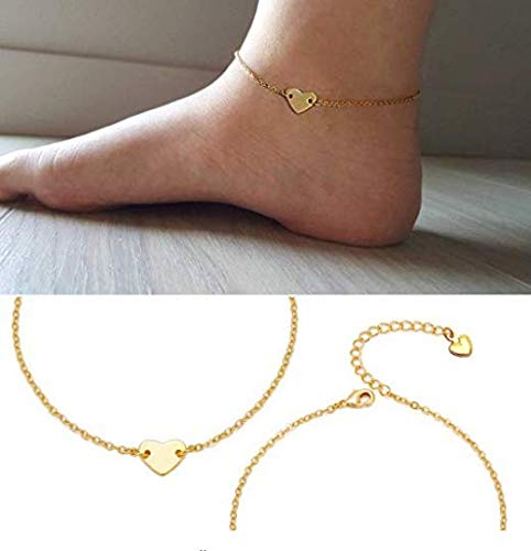 Amazon.com: Anklets for Women Heart Adjustable Foot Ankle ...