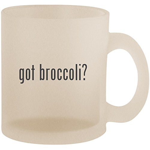 got broccoli? - Frosted 10oz Glass Coffee Cup -