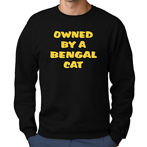 Teeburon OWNED BY A Bengal  CAT Sweatshirt