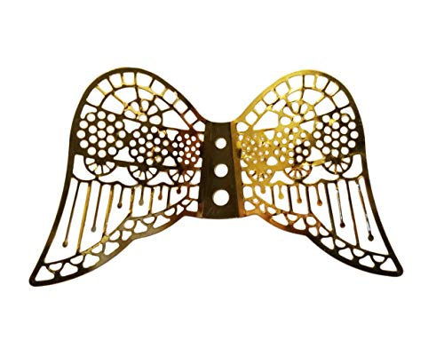 60mm Miniature Gold Metal Filigree Angel Wings (Pack of 12)
