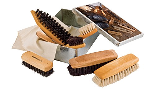 Brstenhaus Redecker Luxury Shoe Care Set, 6-1/2-Inches by 8-7/8-Inches by 2-3/4-Inches