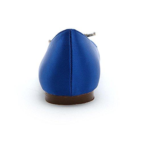 L@YC Zapatos De Boda Para Mujer 9872-12 Pisos De Punta Redonda Zapatos De Boda / De Fiesta Y De Noche MáS Colores Disponibles Blue