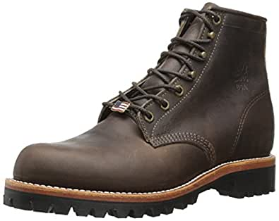 "Chippewa Men's 6"" Classic 25290 Lace Up Boot,Brown,6.5 EE US"