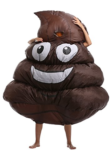 FS Adult's Poop Inflatable Costume Blow Up Suit Christmas Cosplay Suit Emoji