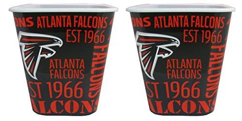 Atlanta Falcons 3 Liter Reusable Plastic Snack Bucket 2 Pack