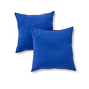 Amazon.com: Greendale Home Fashions Indoor/Outdoor Accent Pillows, Marine Blue, Set of 2 by ...