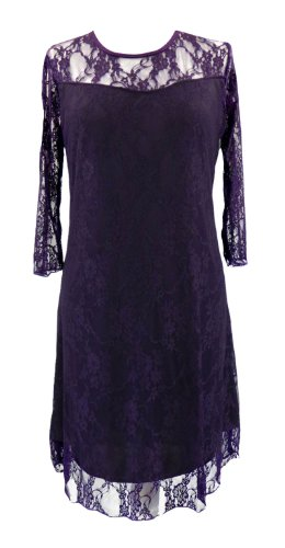 line Lace 26 12 Shift Red Cocktail Dress Party Purple A Overlay Black White Purple Sizes wqYnggRC